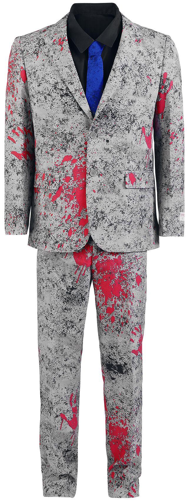 Fun Shirts - Maski i Kostiumy - Kostium OppoSuits Zombiac Kostium szary/czarny/czerwony - 314225
