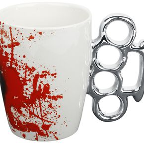 Mug Design Poing Américain Mug blanc/argent
