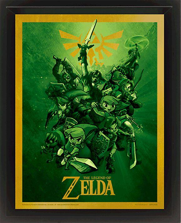 Image of   The Legend Of Zelda Link 3D plakat standard