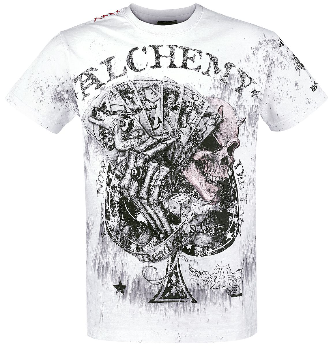 Image of   Alchemy England Read'em and Weep T-Shirt hvid