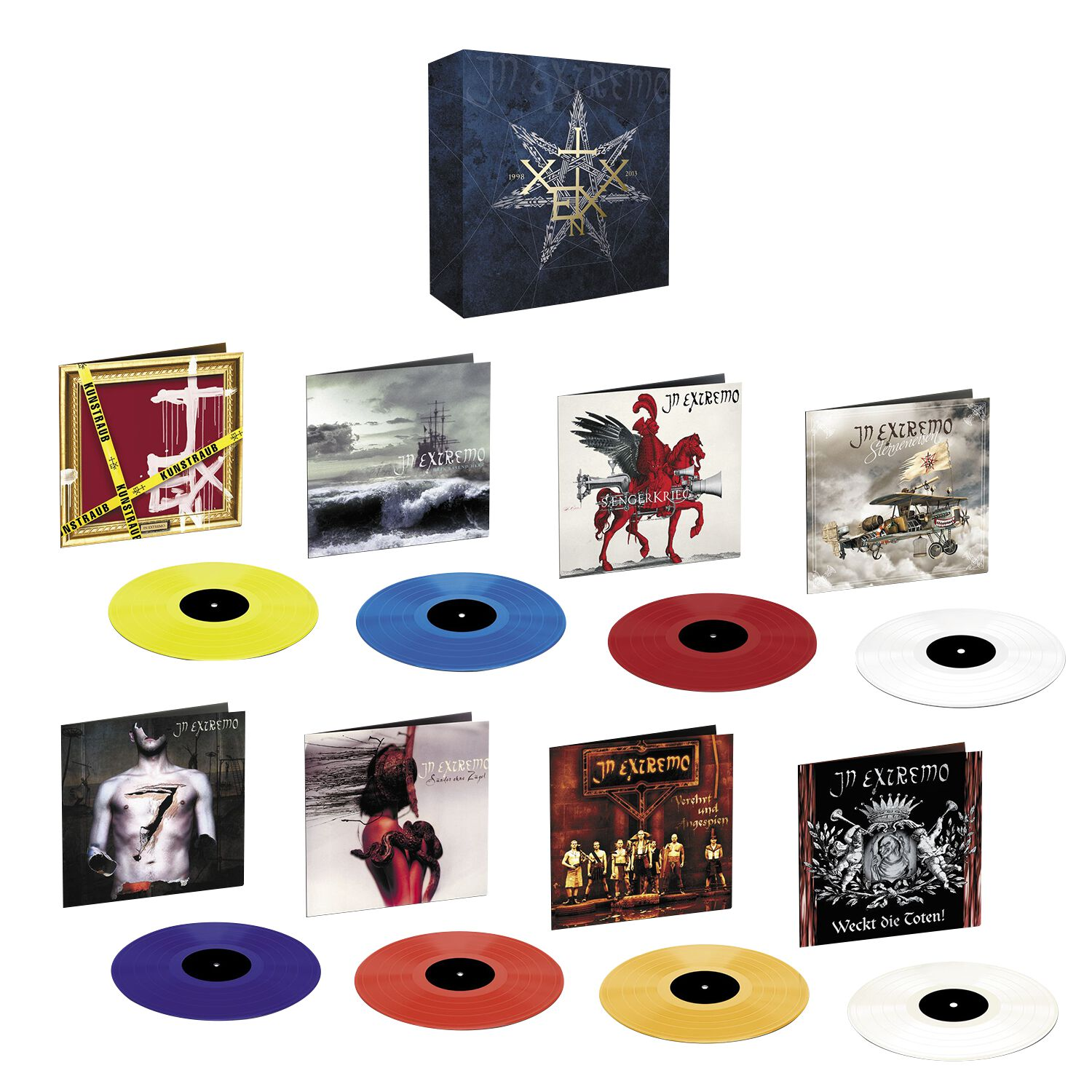 Image of In Extremo 20 Wahre Jahre / Vinyl Collection 1998 - 2013 8-LP Standard