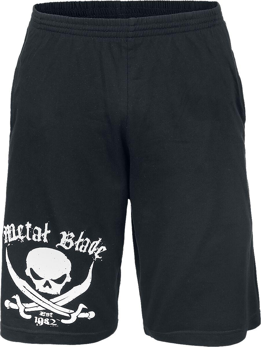 Zespoły - Krótkie spodenki - Krótkie spodenki Metal Blade Pirate Logo Krótkie spodenki czarny - 315082