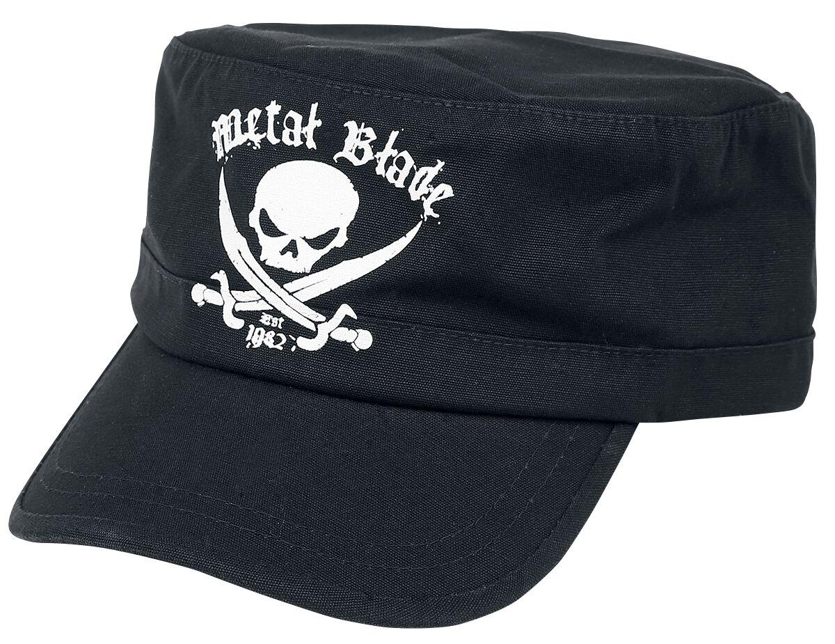 Merch dla Fanów - Czapki i Kapelusze - Czapka wojskowa Metal Blade Pirate Logo Czapka wojskowa czarny - 315085