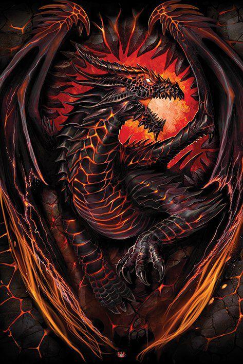 Image of   Spiral Dragon Funace Plakat Standard