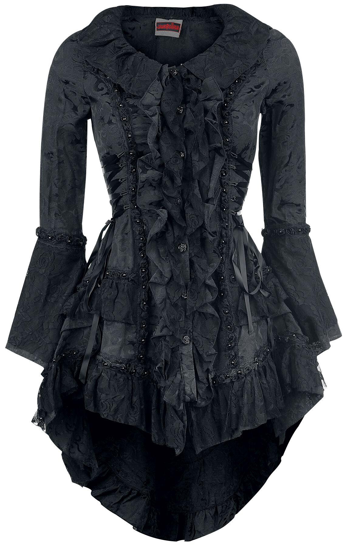 Marki - Bluzy - Kardigan damski Jawbreaker Victorian Jacket Kardigan damski czarny - 315261