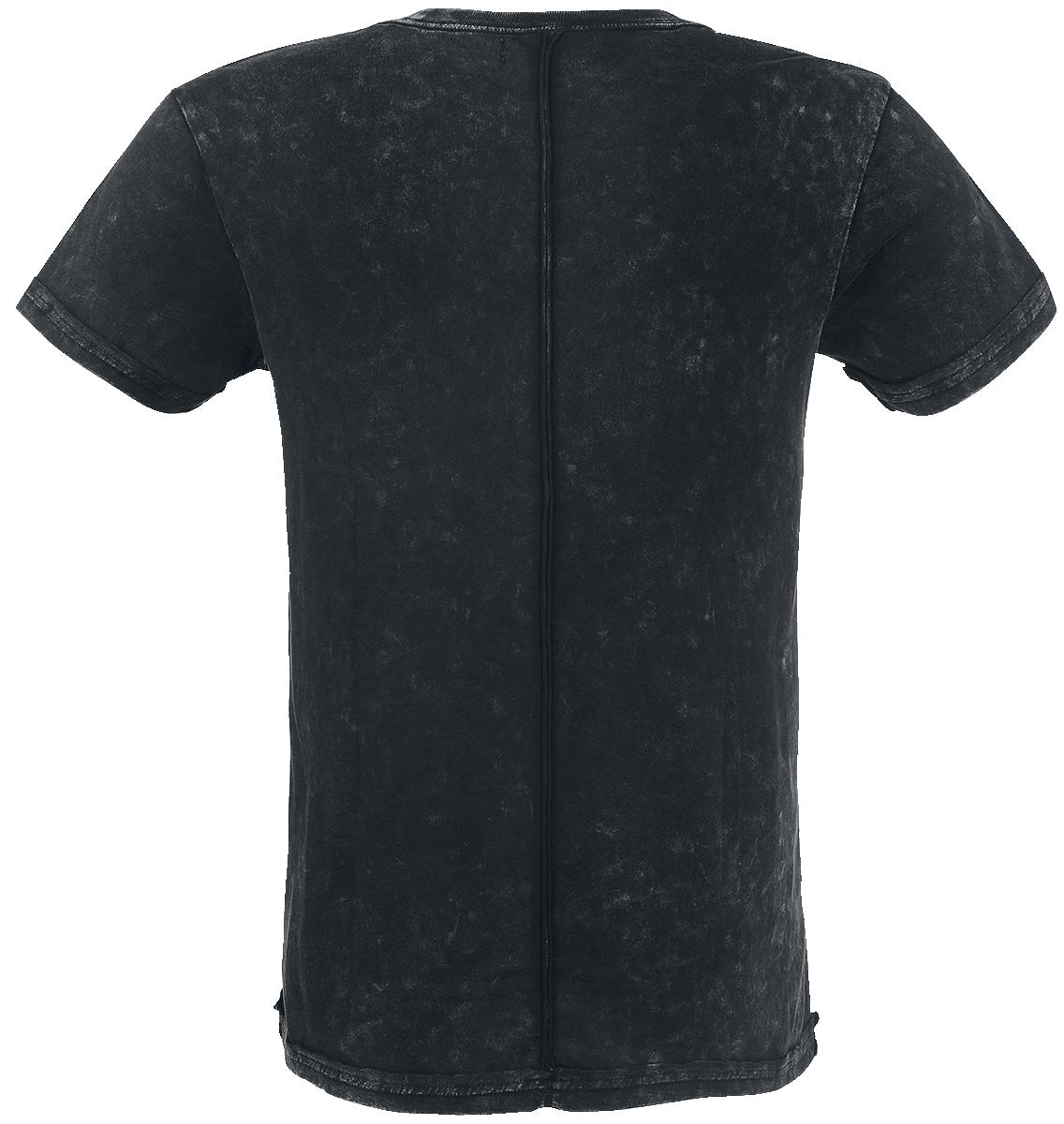 Rock Rebel by EMP Chained Skull T-Shirt mørk grå