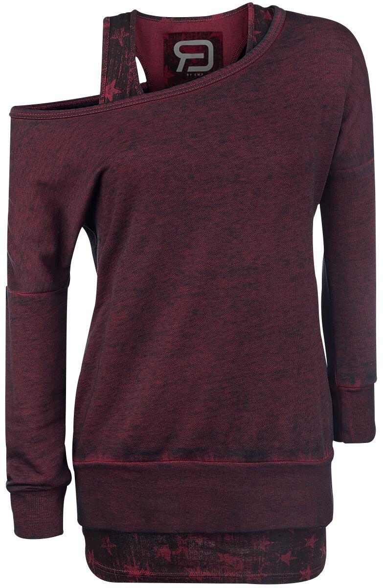 Image of   RED by EMP Cut Me Loose Girlie sweatshirt bordeaux
