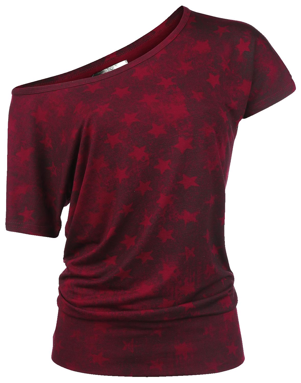 RED by EMP Star Shirt Koszulka damska bordowy/czarny