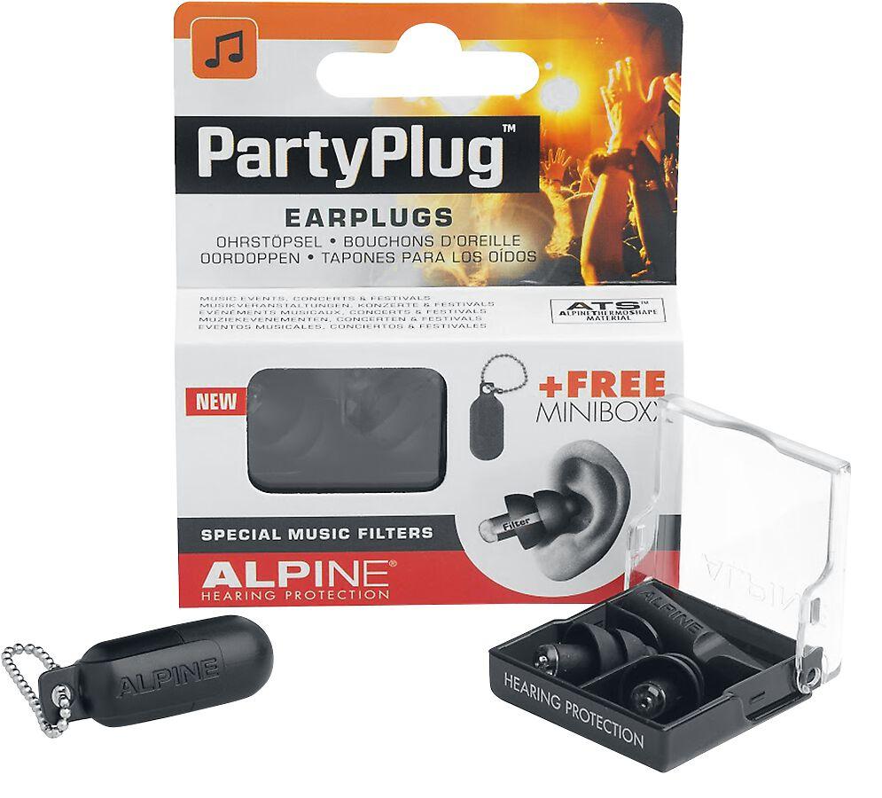 Alpine PartyPlug Ohrstöpsel schwarz