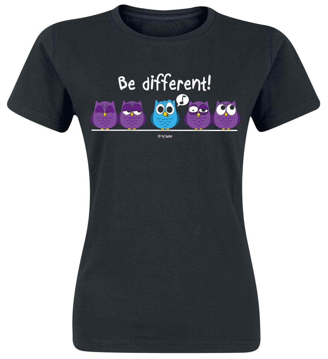 Tierische Sprüche Be Different! Koszulka damska czarny