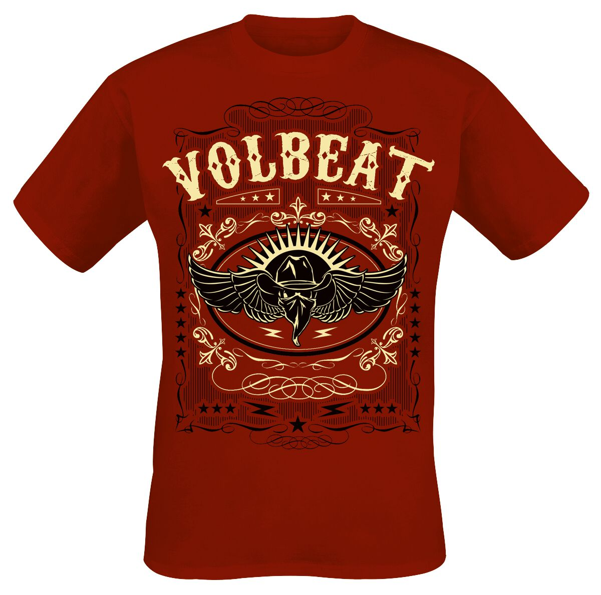 Image of   Volbeat Western Wings T-Shirt rød