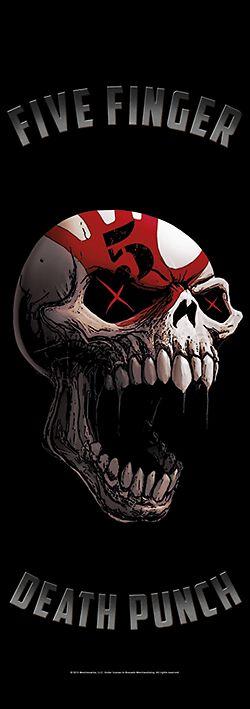 Image of   Five Finger Death Punch Speech Skull Dør flag standard