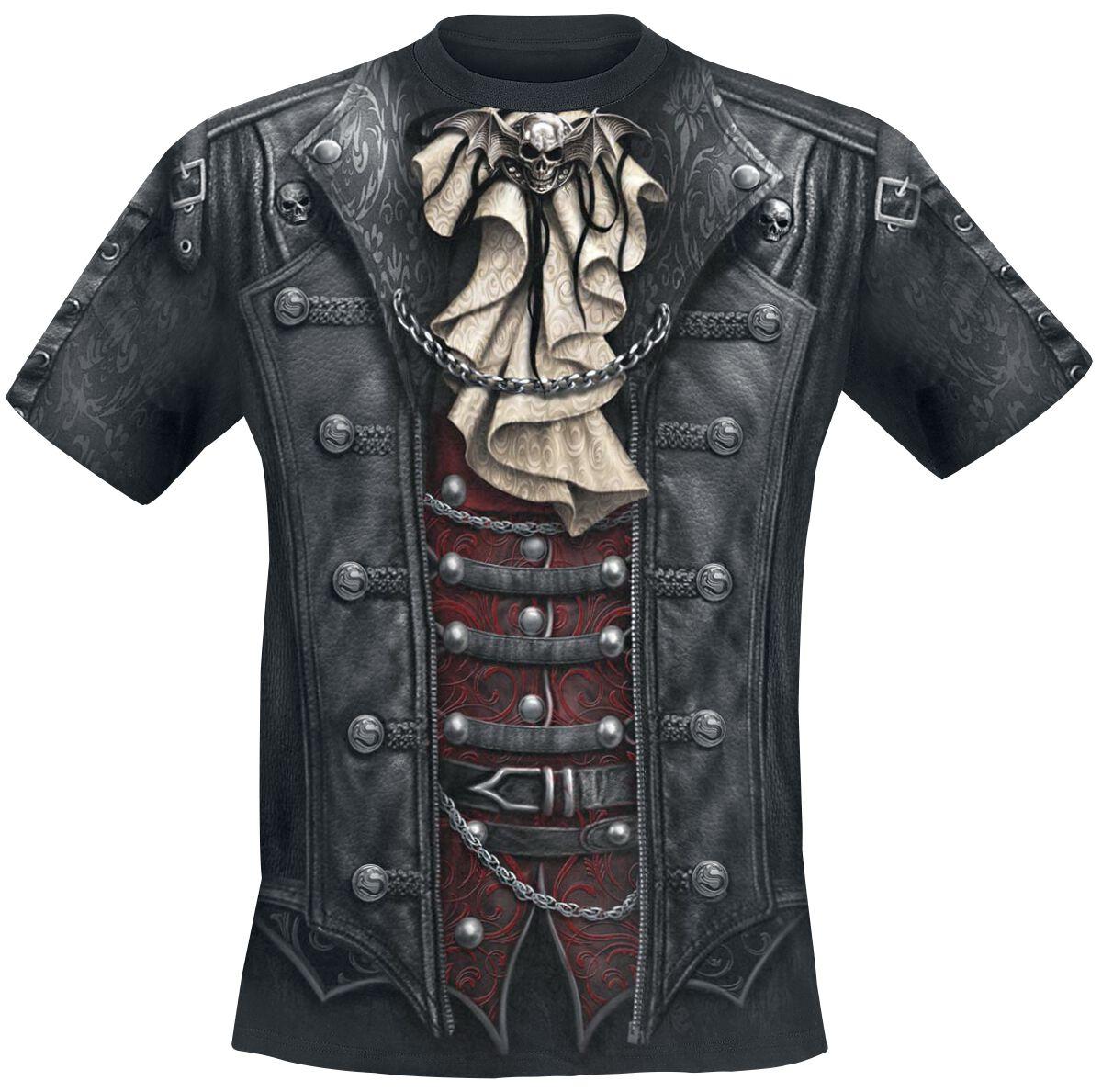 Image of   Spiral Goth Wrap T-Shirt sort
