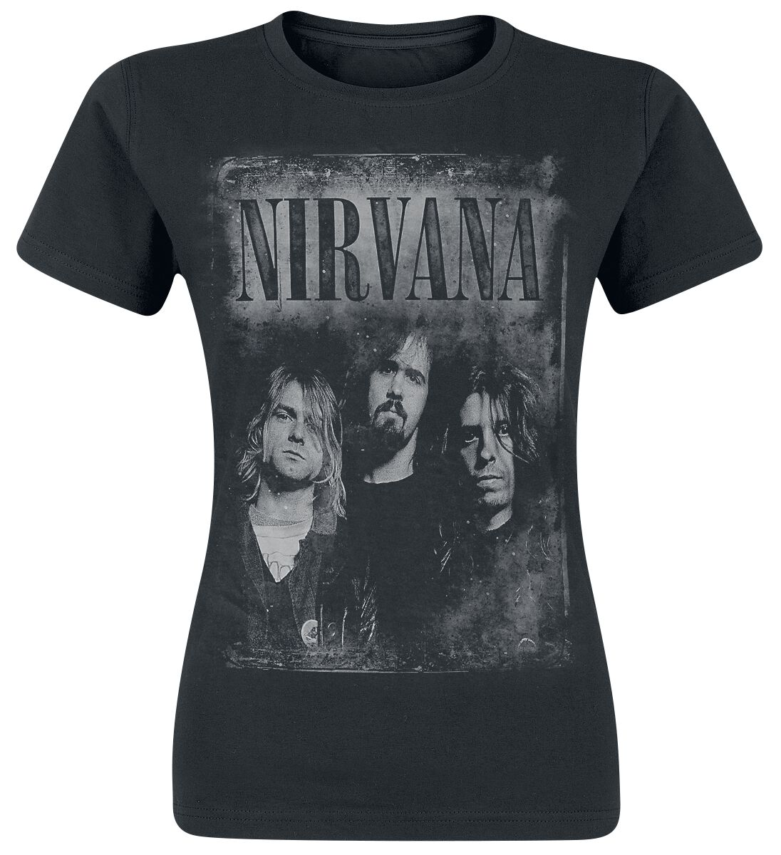Zespoły - Koszulki - Koszulka damska Nirvana Faded Faces Koszulka damska czarny - 317135