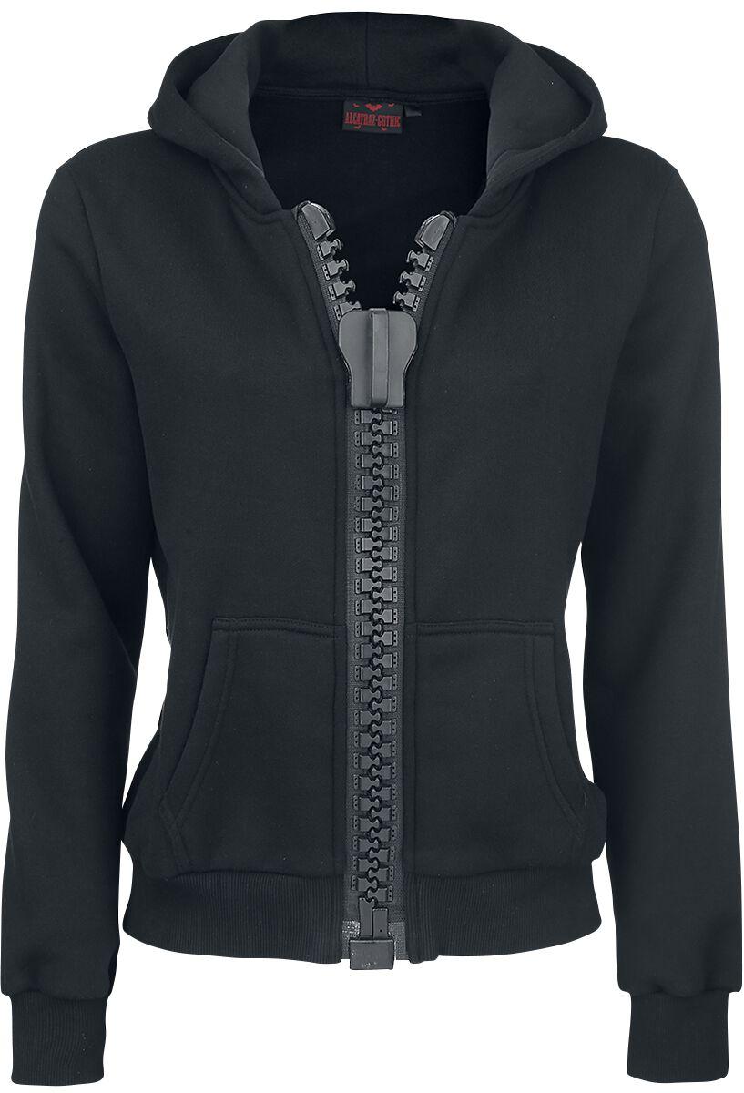 Marki - Bluzy z kapturem - Bluza z kapturem rozpinana damska Alcatraz Big Zipper Hoodie Bluza z kapturem rozpinana damska czarny - 317828