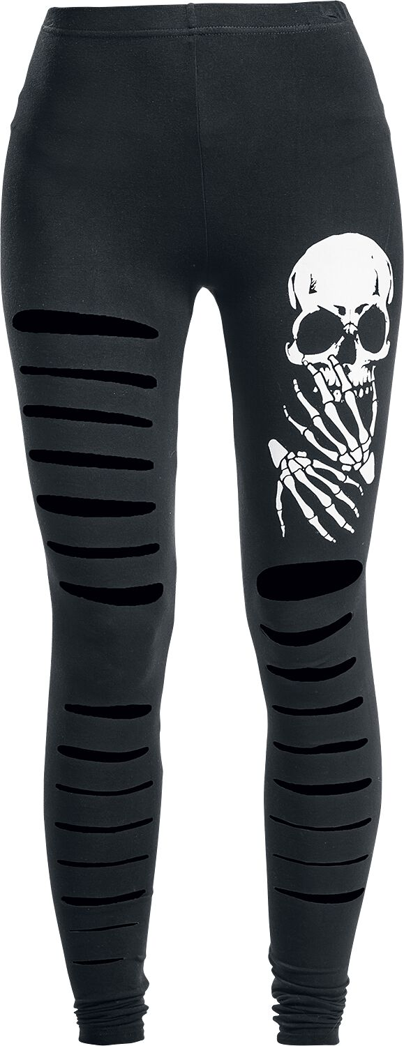 Image of   Banned Slashed Skull Leggings sort