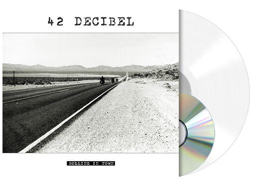 Image of   42 Decibel Rolling in town LP & CD gennemsigtig