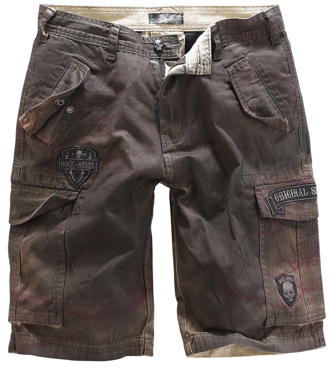 Image of   Rock Rebel by EMP Army Vintage Shorts Shorts brun