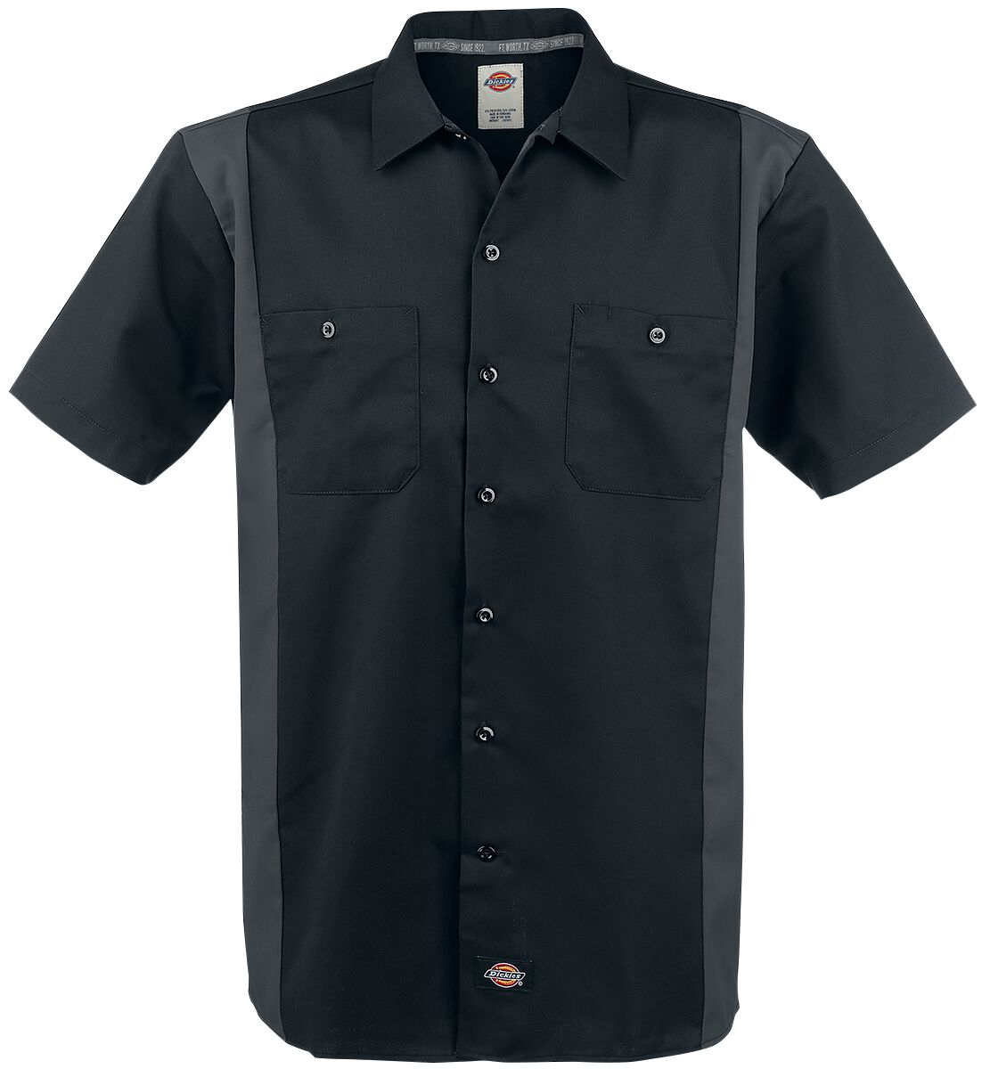 Image of   Dickies Two Tone Work Shirt Skjorte sort-grå