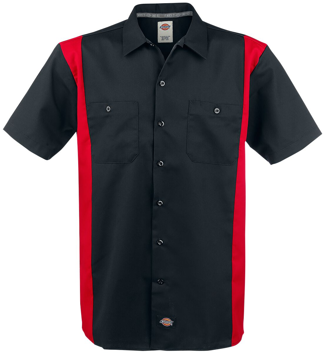 Image of   Dickies Two Tone Work Shirt Skjorte sort-rød