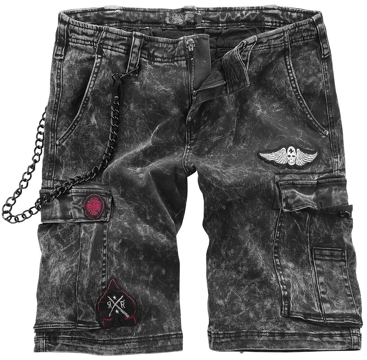 Image of   Rock Rebel by EMP Garageland Vintage shorts mørk grå
