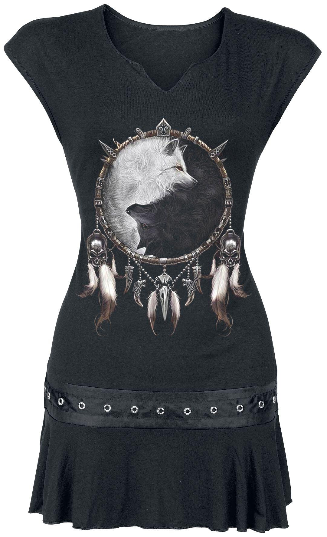 Spiral Wolf Chi Koszulka damska czarny