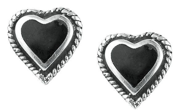 Basics - Kolczyki - Kolczyki - Earpin Black Heart Earstuds Kolczyki - Earpin standard - 319121