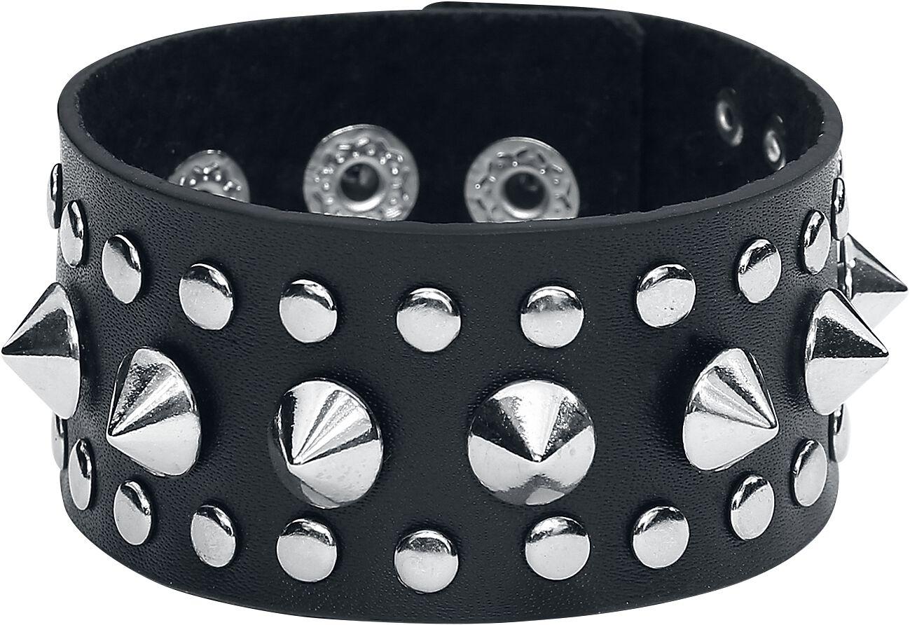 Image of   etNox hard and heavy Steel Studs Bracelet Kunstlæderarmbånd Standard