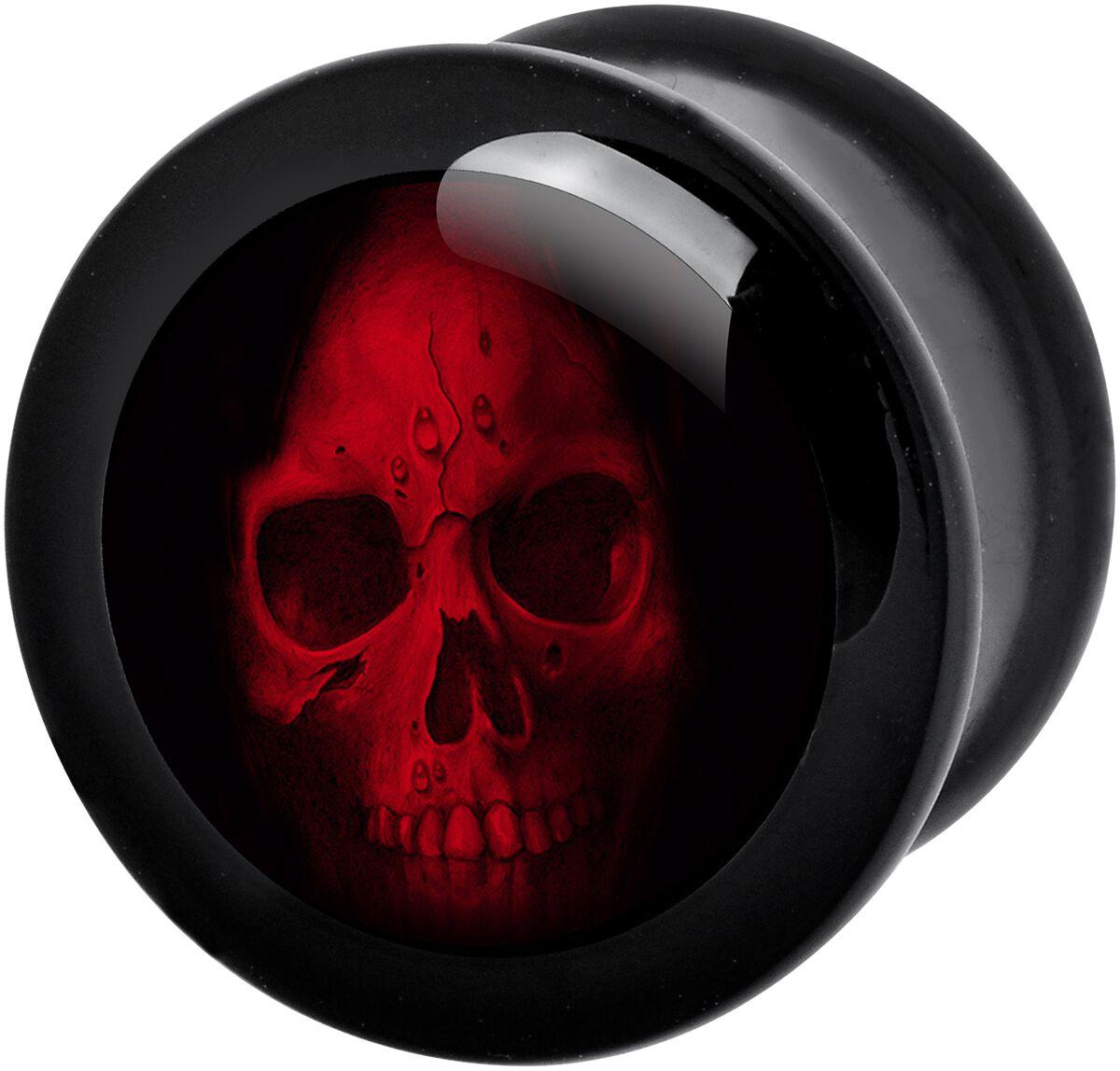 Image of   Wildcat Red Skull Plugs sort-rød