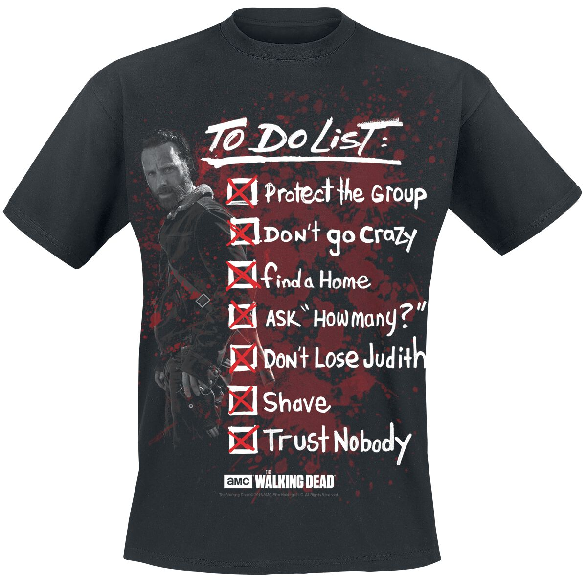Image of   The Walking Dead Rick Grimes To Do List T-Shirt sort