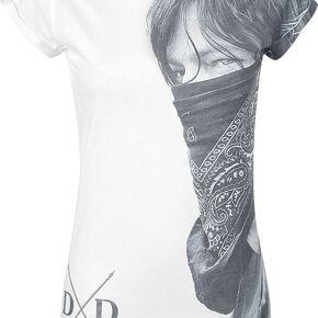 The Walking Dead Daryl Dixon - Large Face Bandana T-shirt Femme blanc