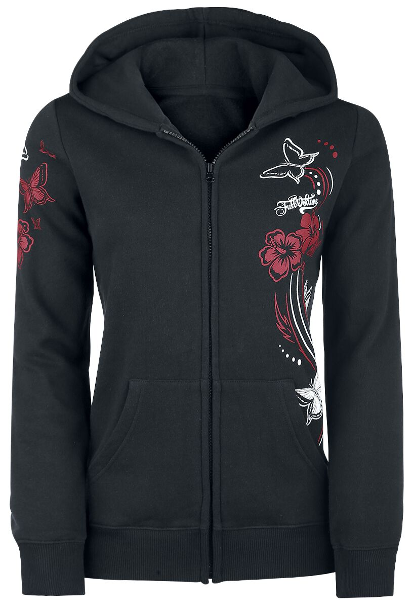 Image of   Full Volume by EMP Butterfly Hoodie Jacket Girlie hættejakke sort