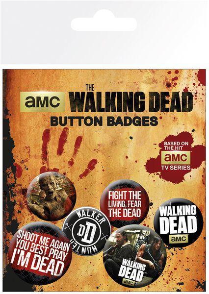 Image of   The Walking Dead Phrases Badgepakke Standard