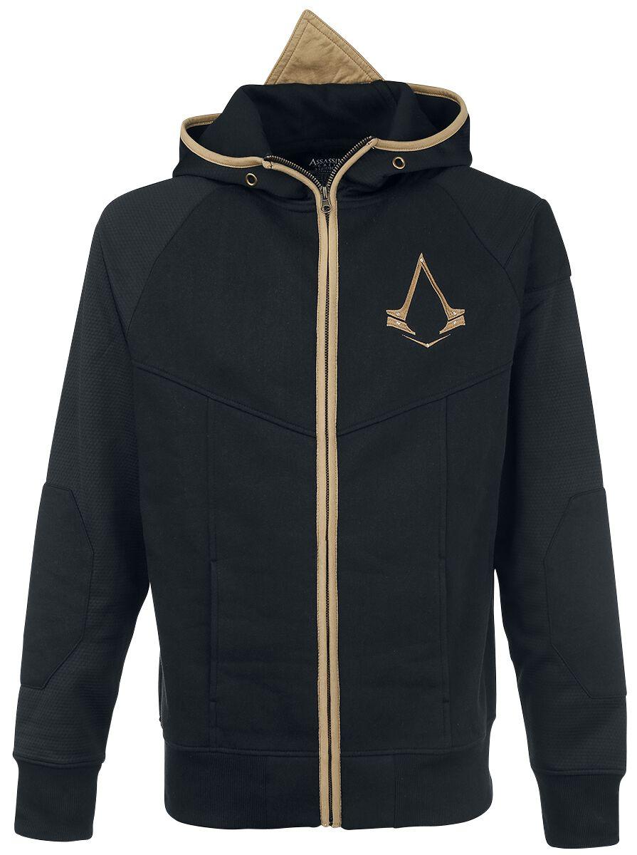 Image of   Assassin's Creed Logo Hættejakke sort-guld