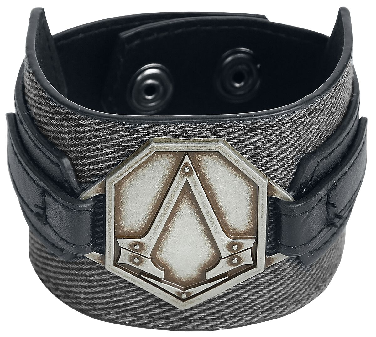 Image of   Assassin's Creed Syndicate - Metal Badge Armbånd sort
