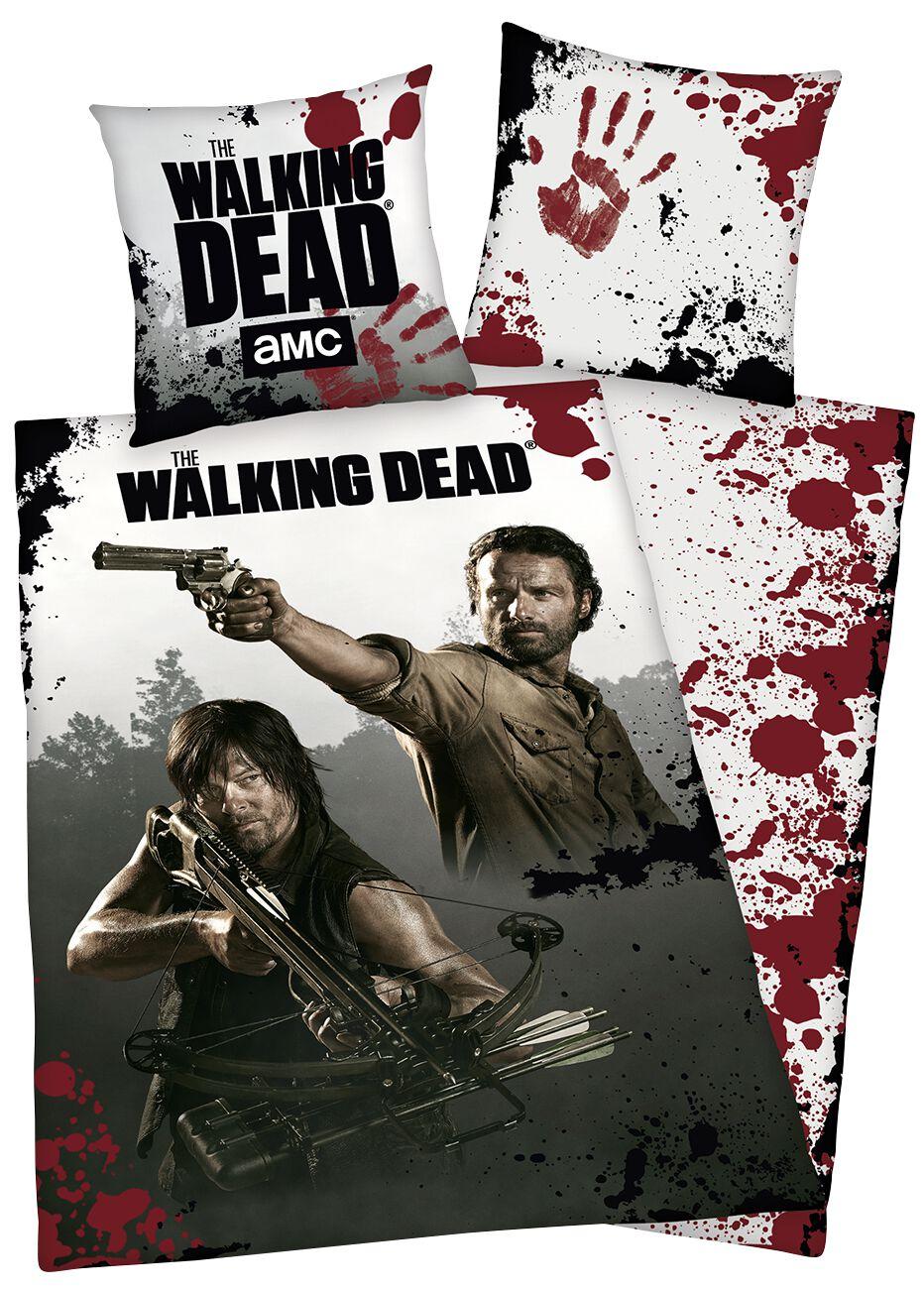Image of   The Walking Dead Rick Grimes & Daryl Dixon Sengesæt allover