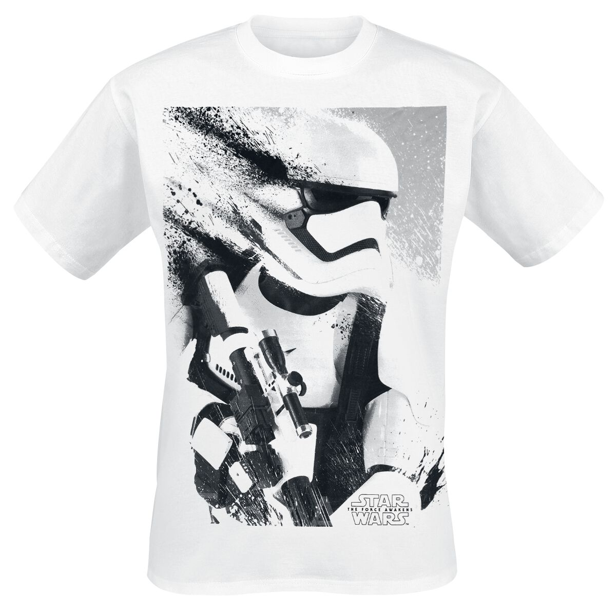 Image of   Star Wars Episode 7 - The Force Awakens - Stormtrooper Splatter T-Shirt hvid