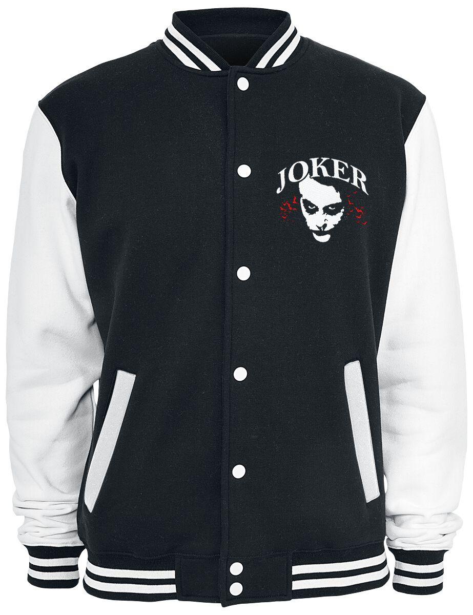Merch dla Fanów - Kurtki - College Jacket The Joker Why So Serious? College Jacket czarny/biały - 320082