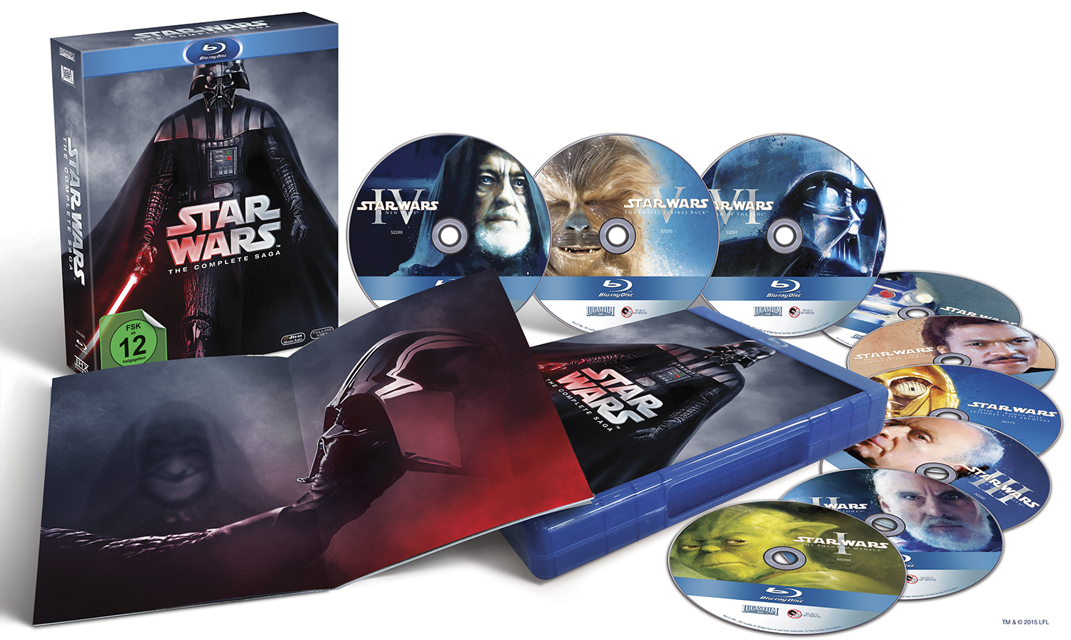 Image of Star Wars The Complete Saga 9-Blu-ray Standard