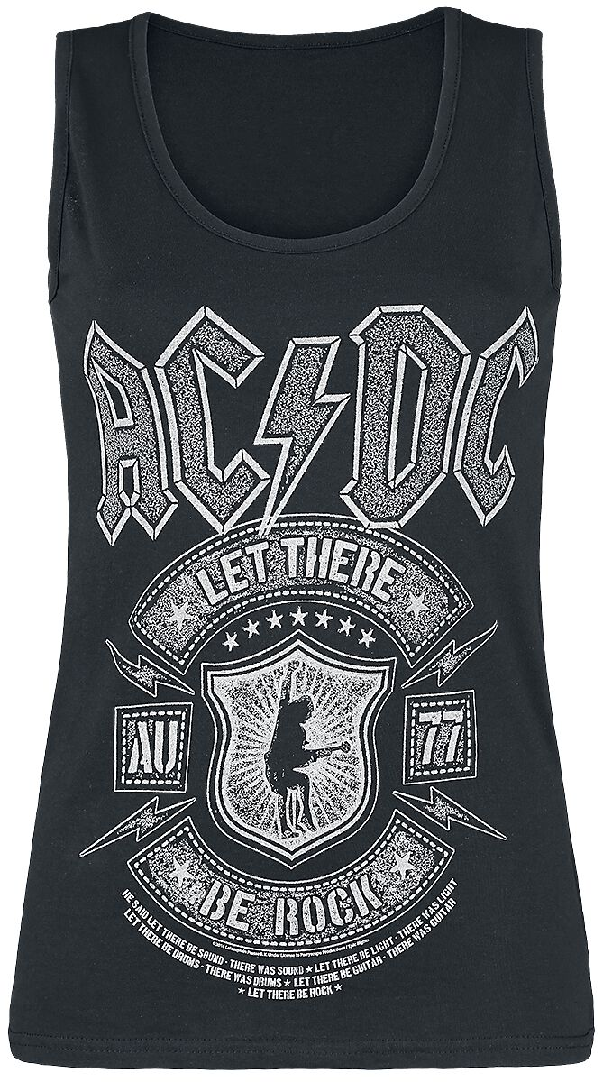 Image of   AC/DC Let there be Rock Girlie top sort