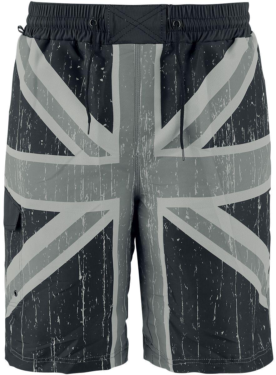 Image of   Brandit Badeshorts Union Jack Badeshorts grå-sort