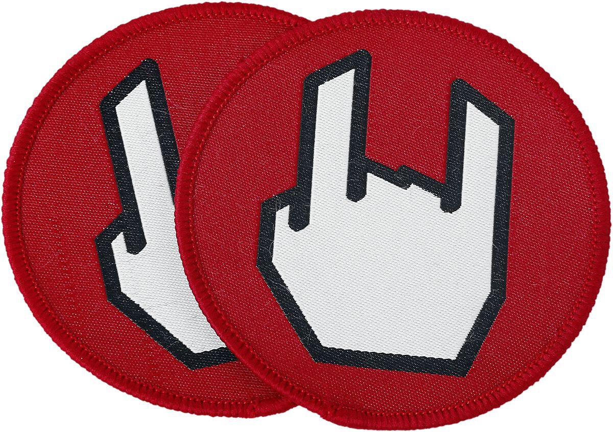 Merch dla Fanów - Naszywki - Naszywka EMP EMP Rockhand - Naszywki - Komplt: 2 sztuki Naszywka standard - 320430