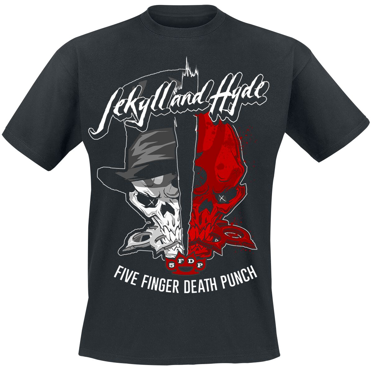 Image of   Five Finger Death Punch Jekyll And Hyde T-Shirt sort