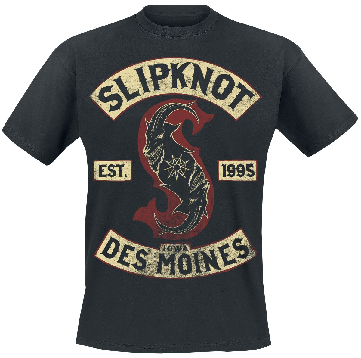 Image of   Slipknot Iowa Des Moines T-Shirt sort