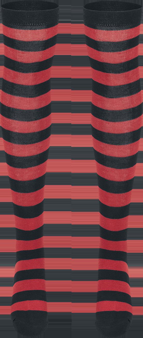 Urban Classics - Ladies Striped Socks - Socks - black-red