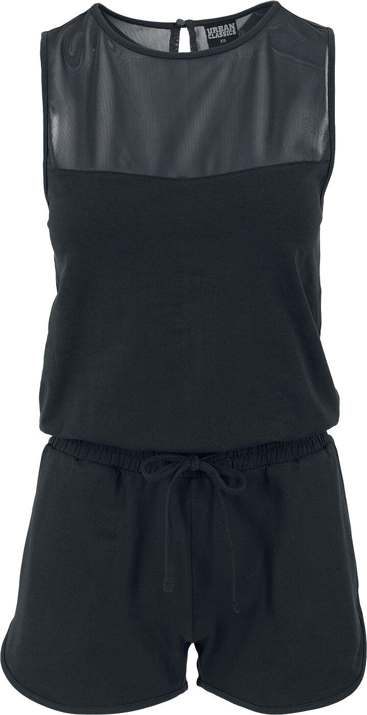 Hosen für Frauen - Urban Classics Ladies Tech Mesh Hot Jumpsuit Jumpsuit schwarz  - Onlineshop EMP