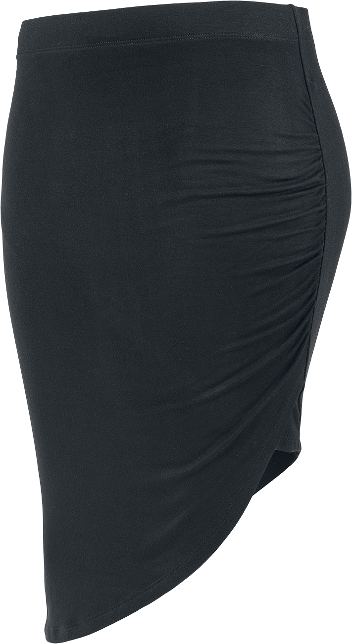 Urban Classics Ladies Asymmetric Viscose Skirt Spódnica czarny