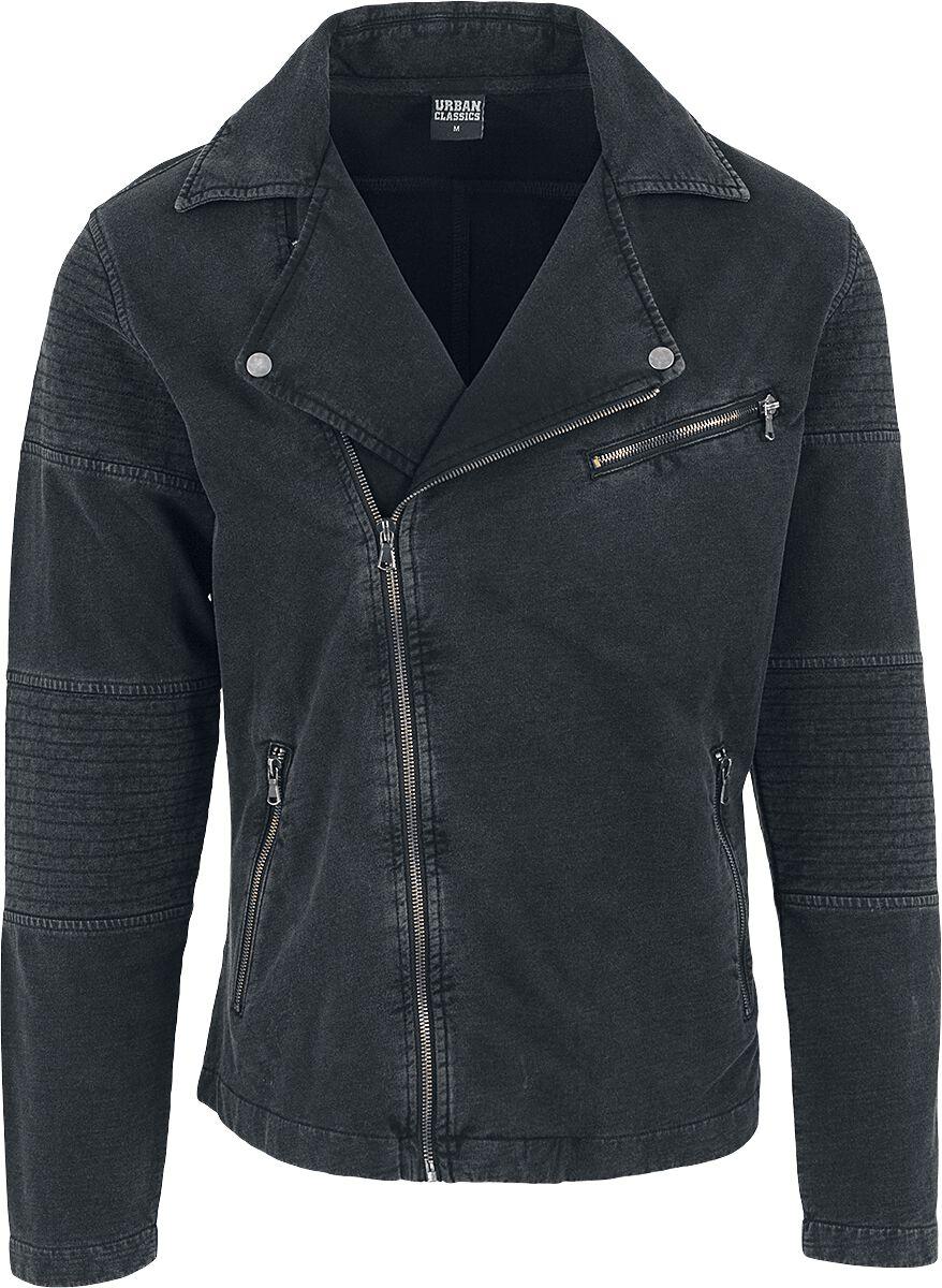 Image of   Urban Classics Acid Wash Terry Biker Jacket Jakke mørk grå