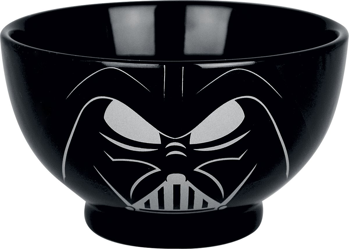 Image of   Star Wars Darth Vader Dyb tallerken sort-hvid
