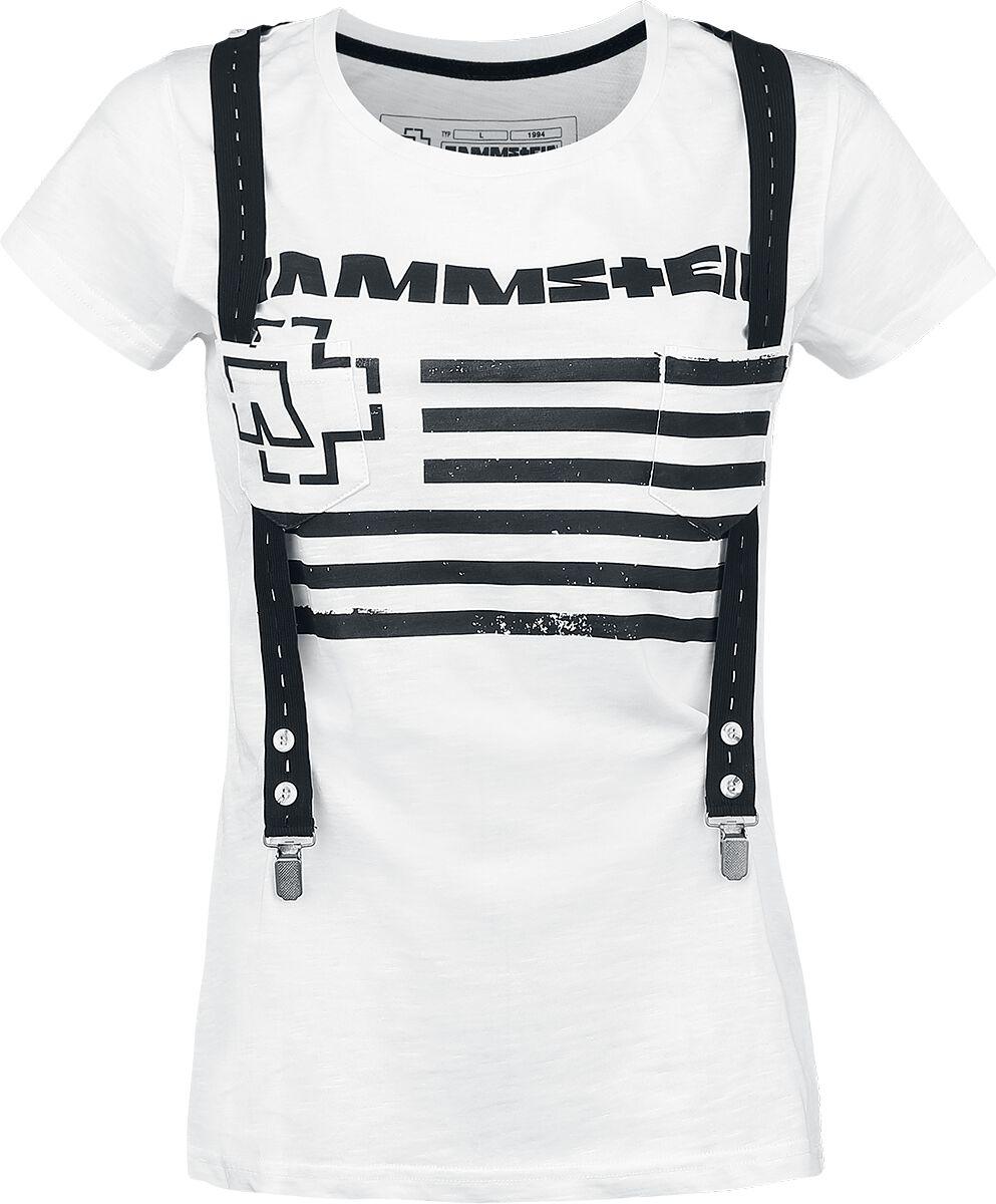 Image of   Rammstein Suspender Girlie trøje hvid